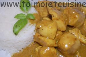 poulet au curry et coco