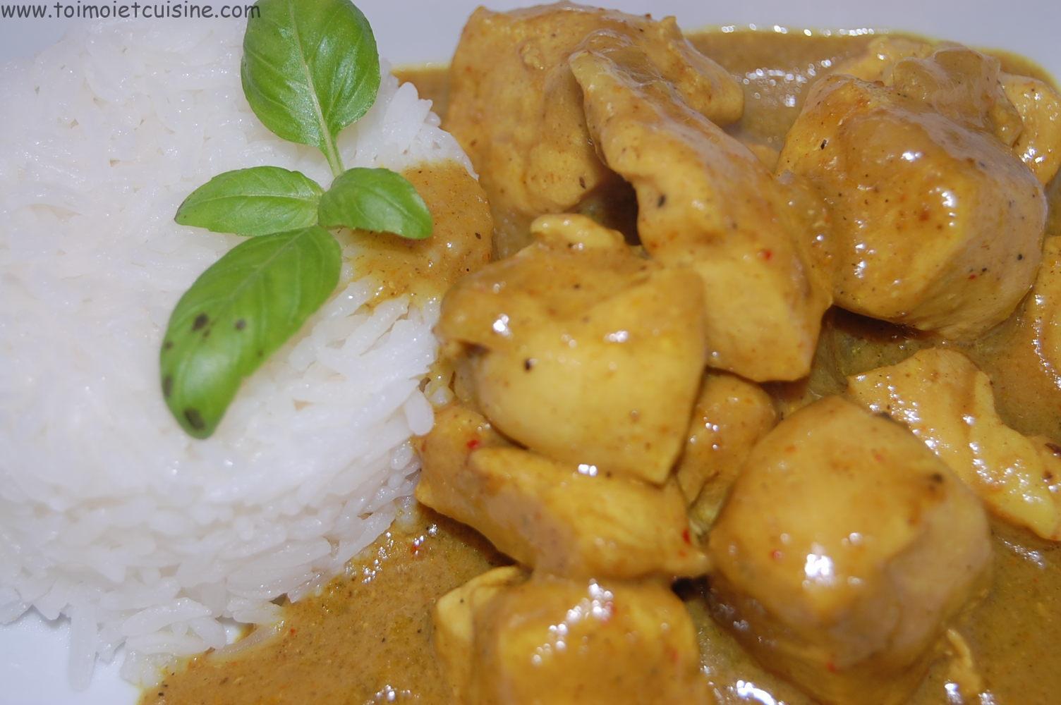 Poulet Au Curry Et Coco Tchop Afrik A Cuisine