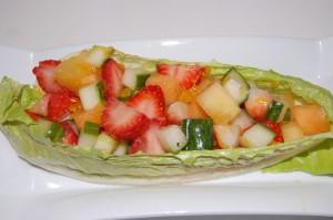 salade de concombre et fruits