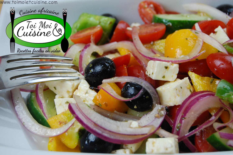 Salade grecque tchop afrik 39 a cuisine for Cuisine grecque