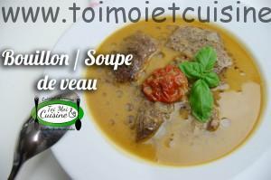 bouillon(soupe) de veau