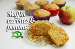 Muffins aux carottes et pomme