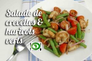 salade de crevettes et haricots verts